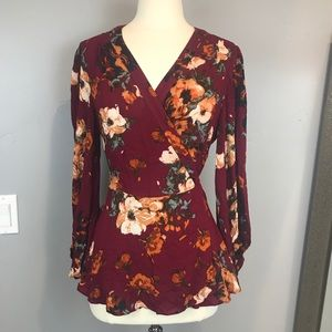 Anthropologie hd in Paris wrap fall top size 12
